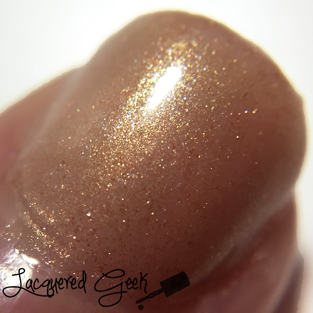 Lucky 13 Lacquer Bitchy Trampoline nail polish swatch macro by Lacquered Geek