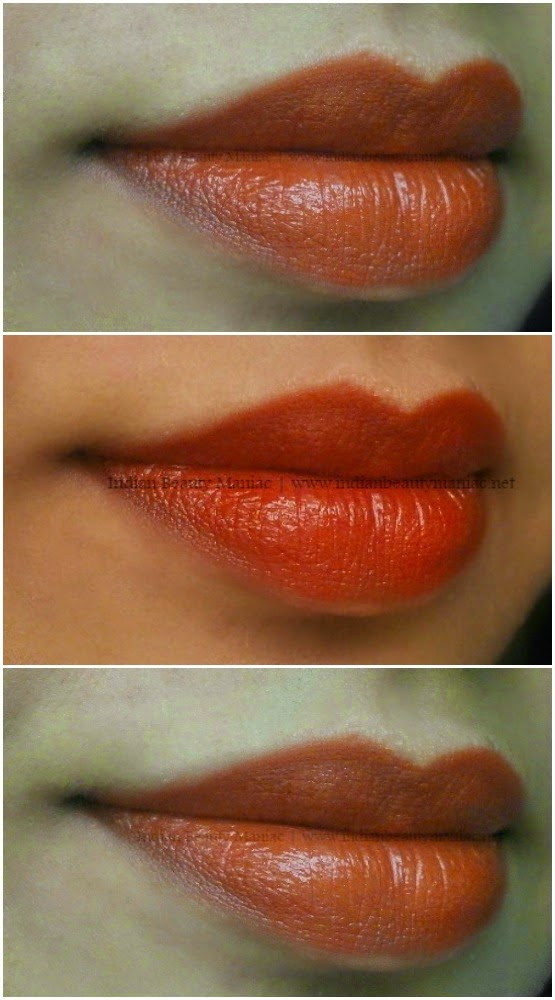 L'Oreal Infallible Lipstick in Charismatic Coral 421, Loreal lipsticks, Indian beauty blogger, review, swatch, Coral lipstick, Red lipstick, Indian skin tone