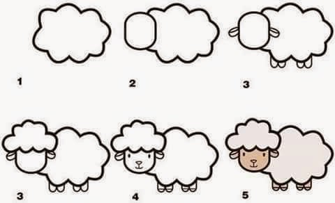 Learn to draw a sheep for kids anak