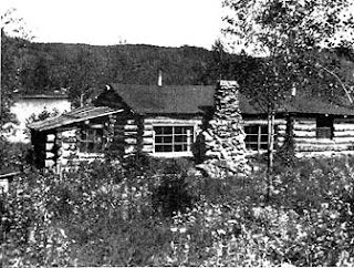 Robert and Kathrene Pinkerton's cabin, eight miles from Akitokan, in its second year, when the fireplace was built