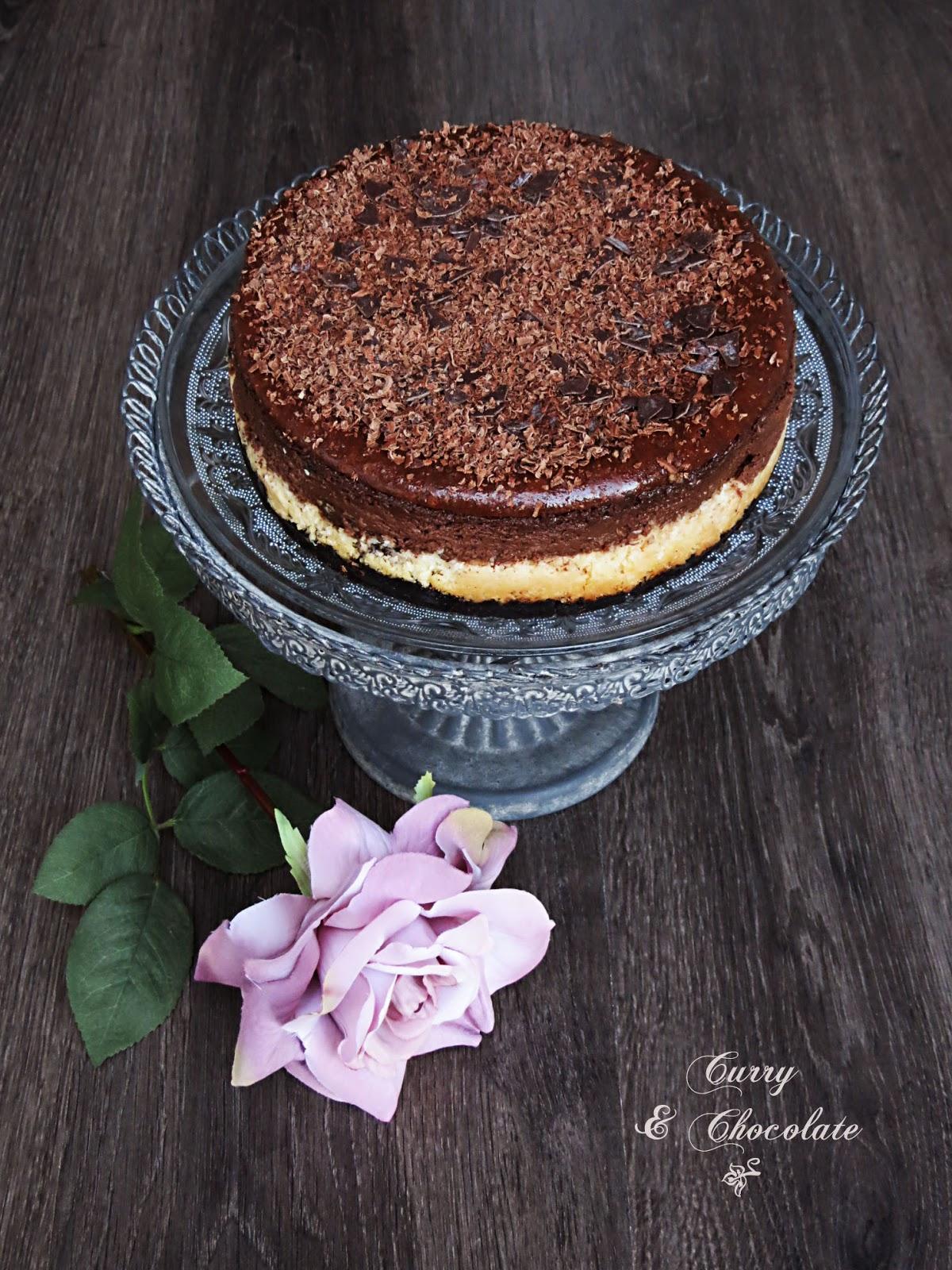 Tarta de queso con chocolate y coco – versión pequeña primera
