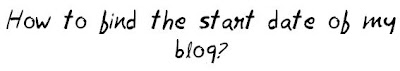 When was my blog started MohitChar