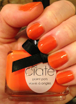 Essie, Ciate, Essie Orange It's Obvious, Ciate Speed Dial, Ciate Paint Pot, Essie Navigate Her Spring 2012 Collection, Essie nail polish, Essie nail lacquer, Essie nail varnish, Essie manicure, Ciate nail polish, Ciate nail varnish, Ciate nail lacquer, Ciate manicure, nails, nail polish, nail lacquer, nail varnish, manicure, swatches, comparison swatches, orange nail polish
