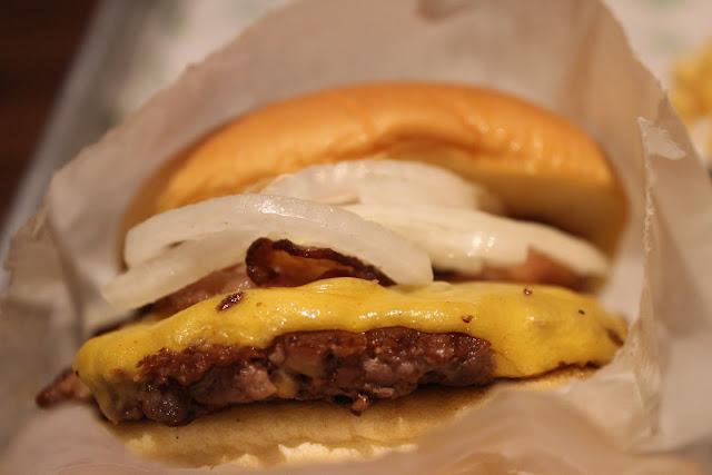 Cheeseburger at Shake Shack, Chestnut Hill, Mass.
