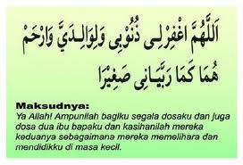 doa untuk ibu bapa, doa mohon ampun untuk kedua ibu bapa,
