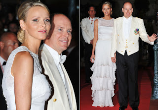 Vestido de Gala do Baile de Casamento de Charlene Wittstock