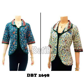 DBT2698 Model Baju Blouse Batik Modern Terbaru 2013