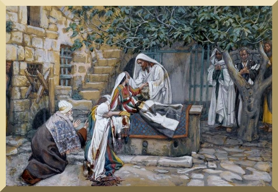 """""""The Daughter of Jairus"""" -- by James Tissot"""