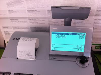 Pantalla caja registradora