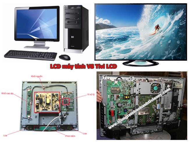 So sánh màn hình tinh thể lỏng máy tính và Tivi LCD