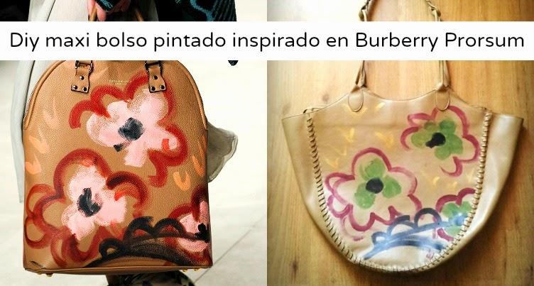 El diy mas barato que he hecho con solo pinturas acrílicas he clonado este bolso en uno como los de burberrys prorsum, es muy fácil de hacer.