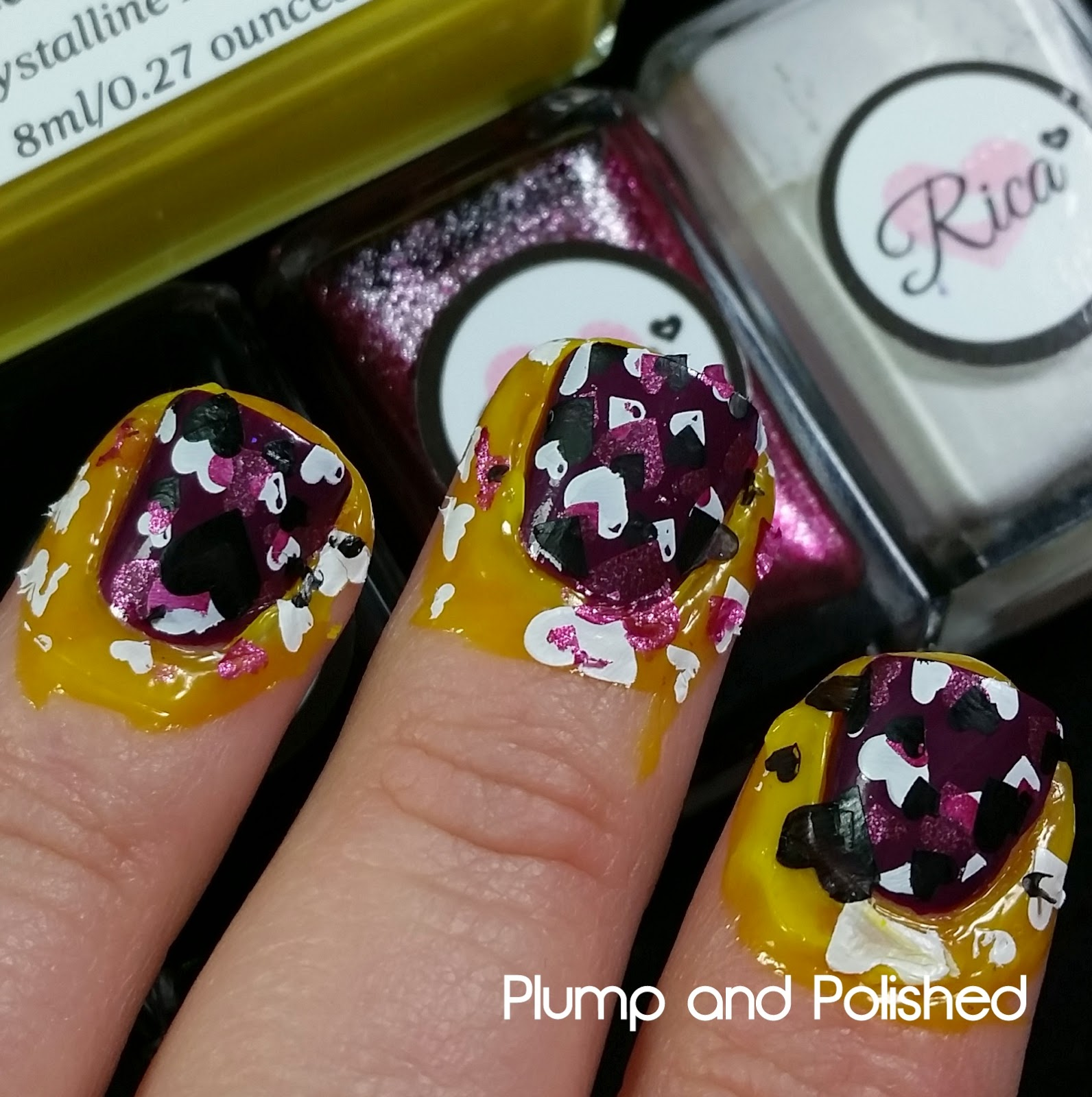 Color4Nails - Crystalline Nail Veil [stamped nail art Rica]