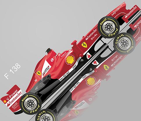 """Fórmula 1  Ferrari """"F138"""" - vector"""