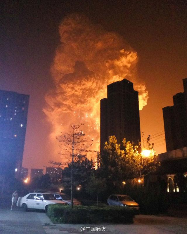 Bencana Ledakan dahsyat di china
