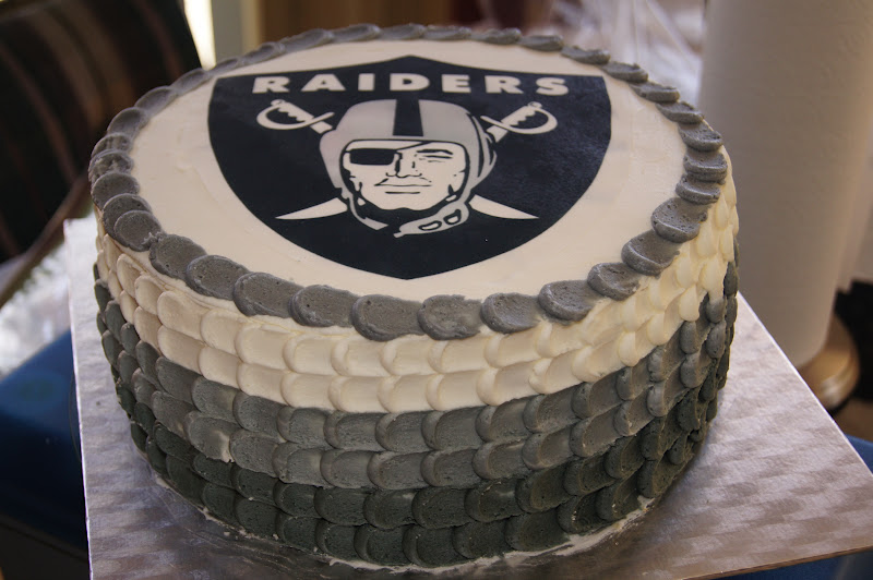 oakland raiders birthday cakes