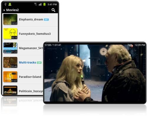 Applicazione per vedere film, video, anime su tablet Mediacom, Miia, Majestic, I-NN