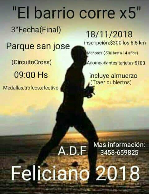 El Barrio Corre x 5 Final  2018-