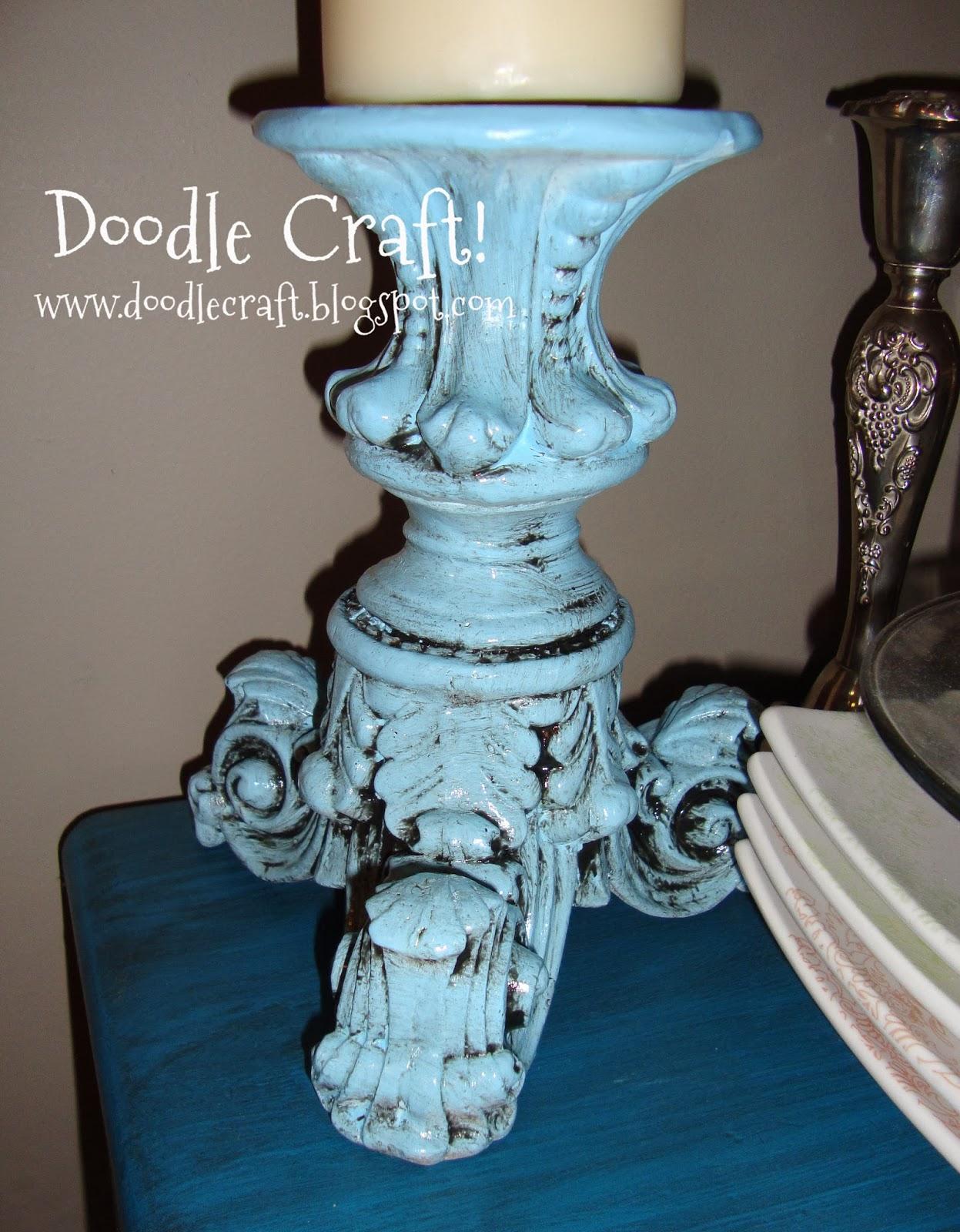 http://doodlecraft.blogspot.com/2011/10/pillar-candle-tower.html
