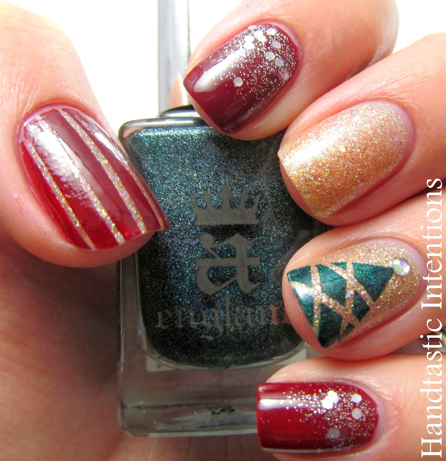 Handtastic Intentions Nail Art Christmas Glitter
