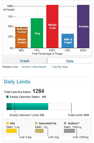 Elizabeths Food Blog My Plate Super Tracker Results