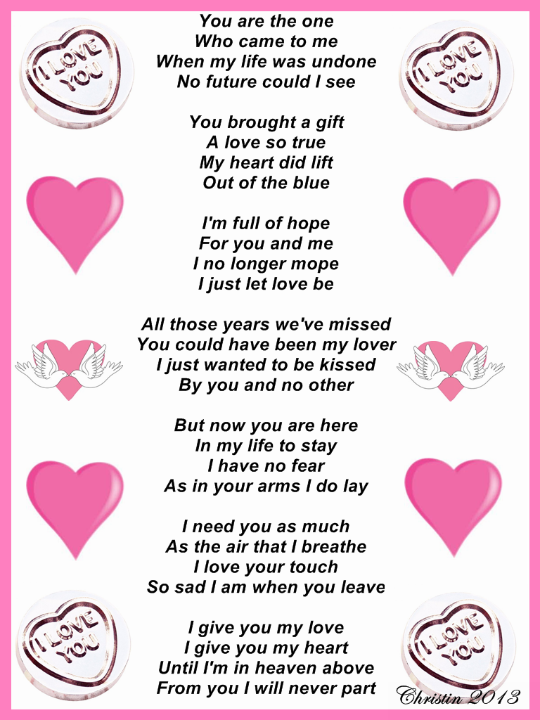 My true love poem for her