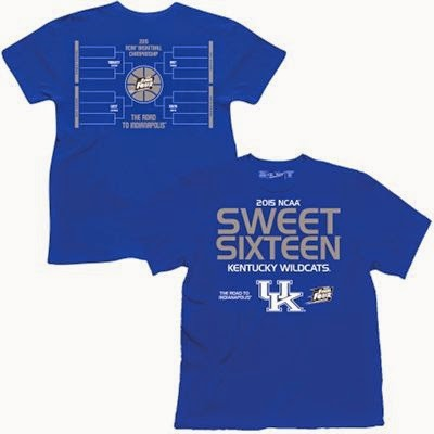 kentucky wildcats sweet 16 t-shirt
