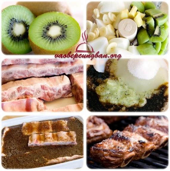 Cách làm sườn nướng trái Kiwi vị ngon bất tận 1