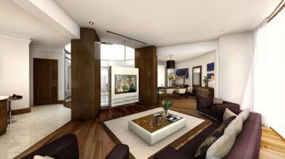 sala casa subterránea moderna
