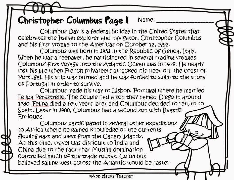 Applejacks Celebrating Columbus Day