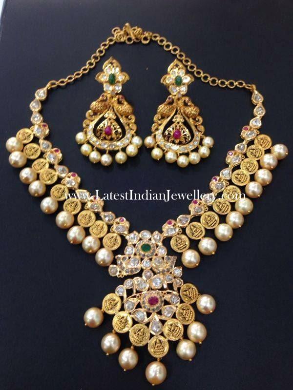 Pachi Diamond Gold Kasu Necklace