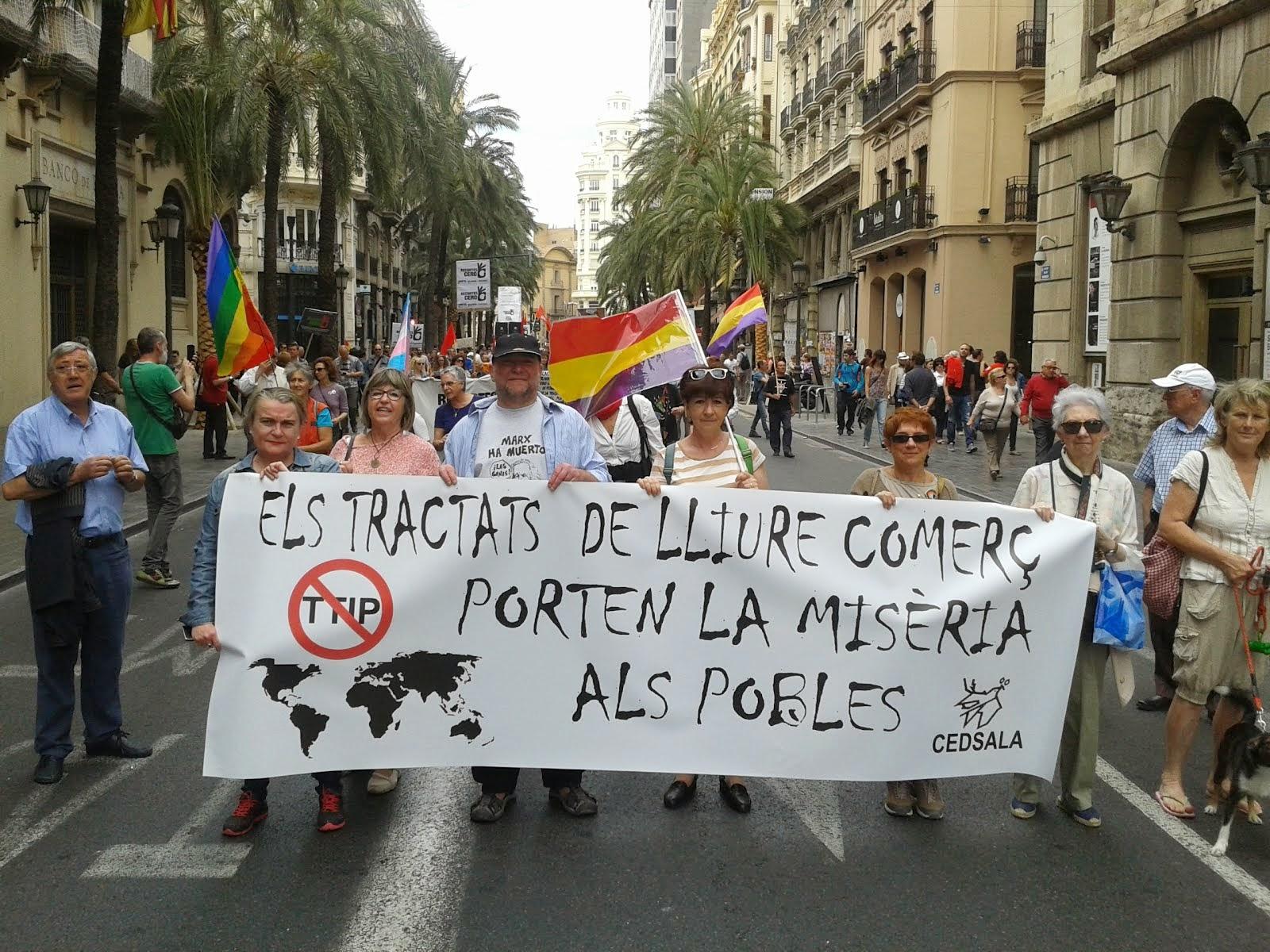 CEDSALA a la manifestació del 1 de Maig