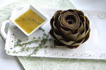 Whole Artichoke with Lemon-Thyme Dipping Sauce