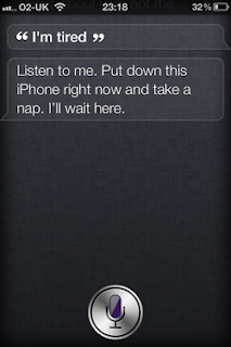 Siri: I'm tired.