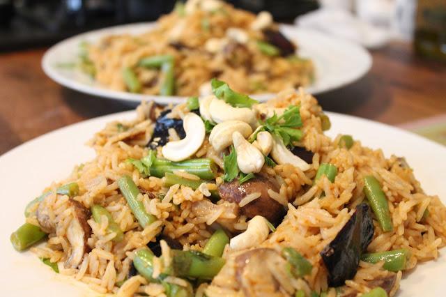 Hello Fresh Thai Mussaman Rice, Roasted Aubergine & Mushrooms