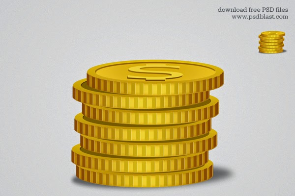 Gold Coin Icon PSD