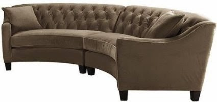 Curved Sofa Furniture Reviews: Curved Leather Sofas For Sale