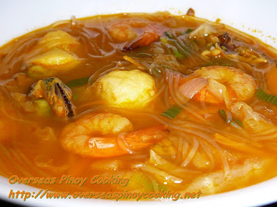 Seafood Sotanghon Soup with Bola Bola