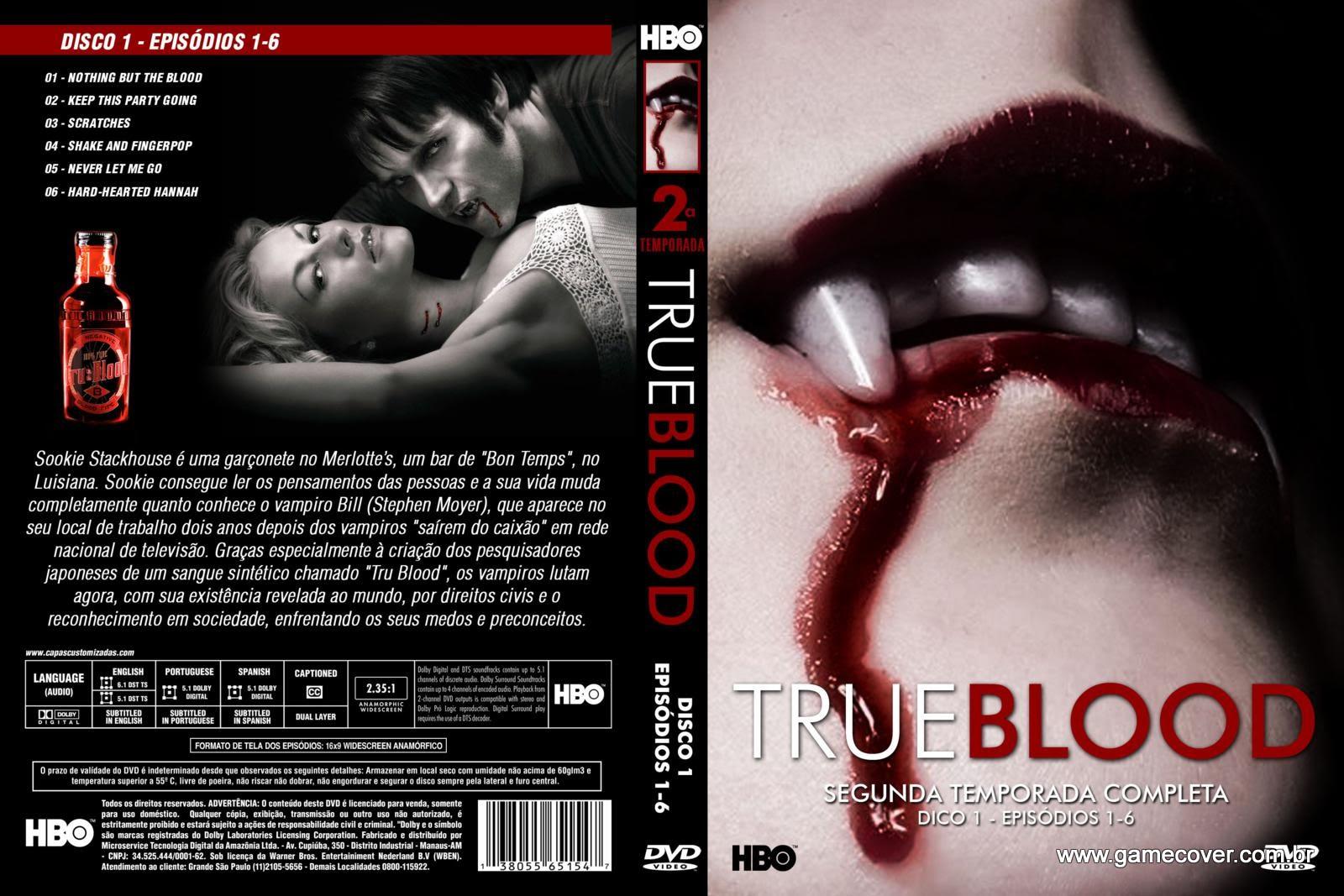 Capa dvd true blood 2ª temporada