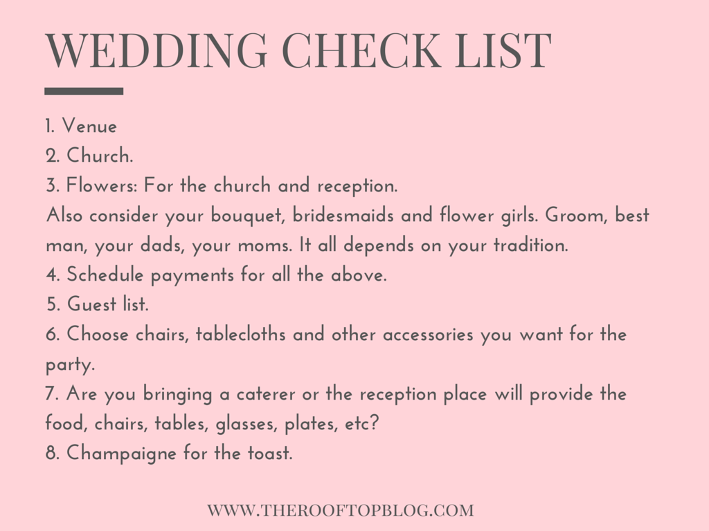 Planning Tips for Weddings / The Rooftop Blog