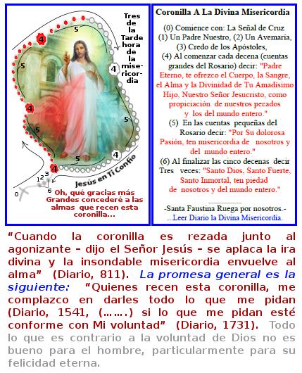jesus con la coronilla divina misericordia en ti confio