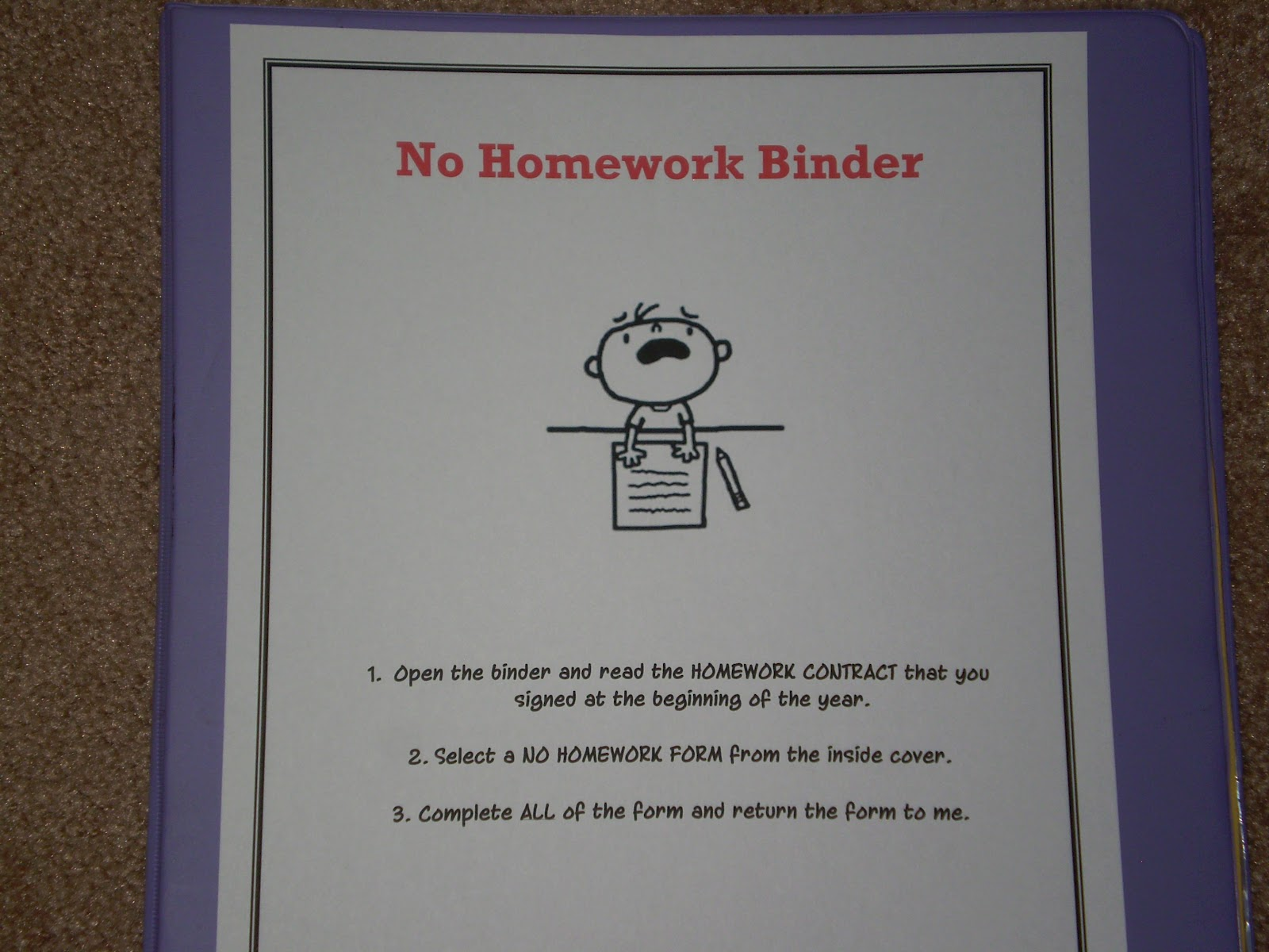 Excuses for no homework