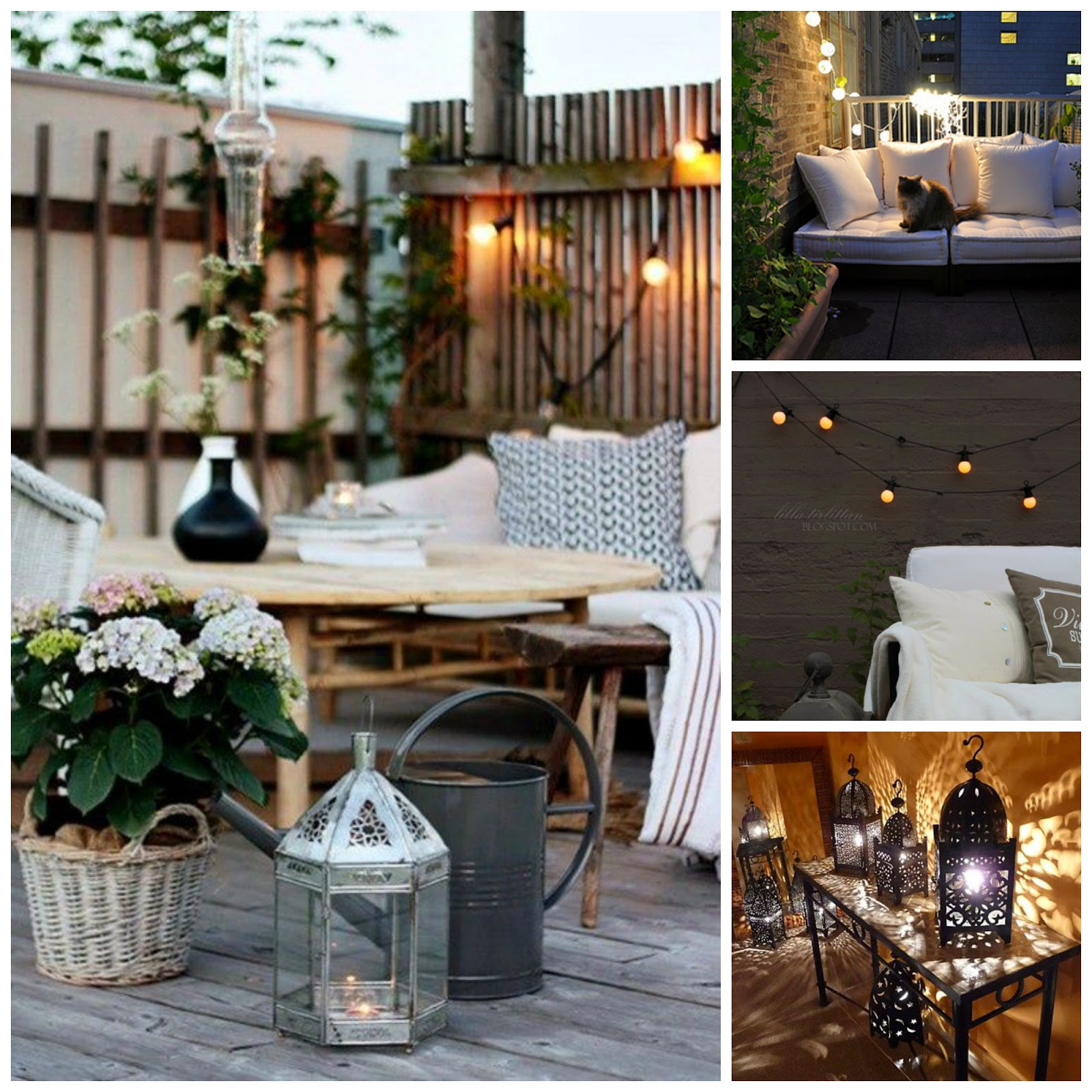 Magnolia styles 5 steps to decorate your small balcony or for Balcony lights