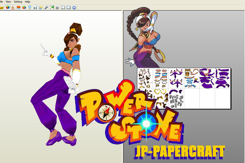 Power Stone Papercraft Rouge
