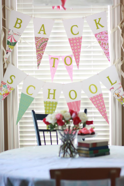 back to school, pennant, back to school party