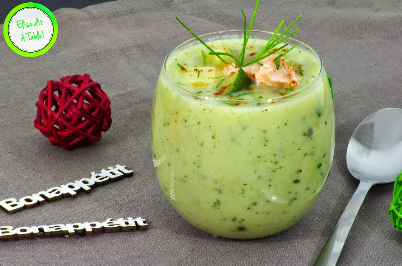 recette soupe courgette saumon