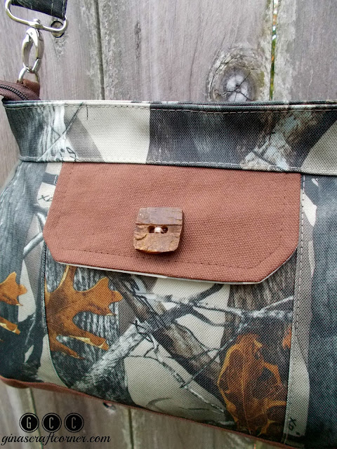 Concealed Carry Purse with True Timber Outdoor Fabric by Ginas Craft Corner