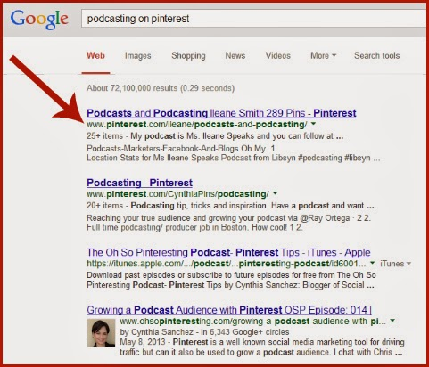 Google Search for Podcasting on Pinterest via @Ileane