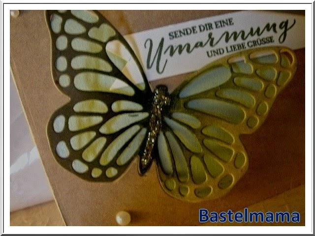 Karte, Schmetterling, Ausziehkarte