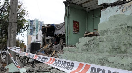 MAS DE 10 MIL CONSTRUCCIONES DAÑADAS POR TERREMOTO EN CHILE, 06 DE ABRIL 2014