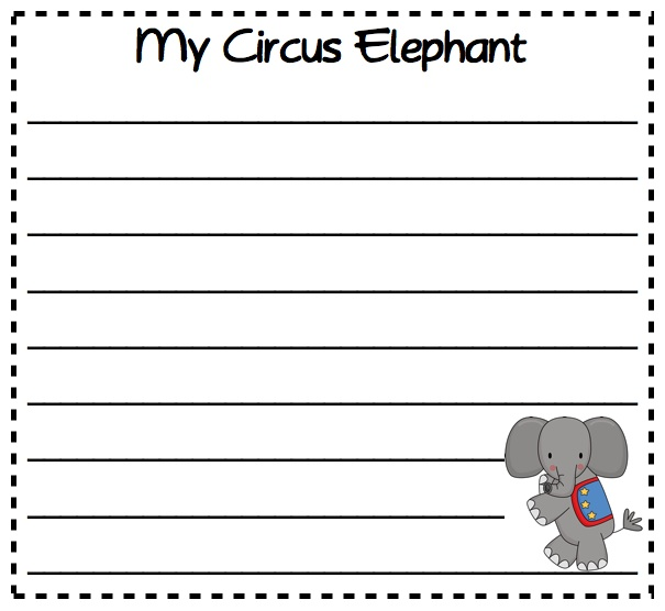 Elephant Writing Paper Template